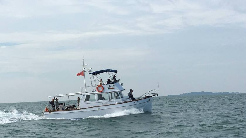 "The lead boat, ""Boon Teik"". Photo courtesy of KC Ling."
